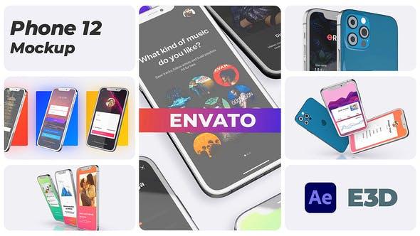 Phone App 12 Pro App Promo Mockup