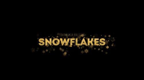 Gold & Silver Snowflake Titles // DaVinci Resolve