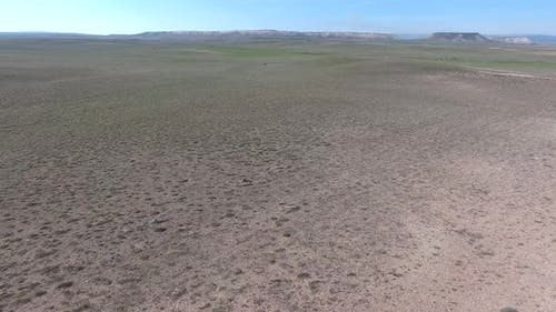 Arid Treeless Land in Terrestrial Climate and Soft Topographic Geography