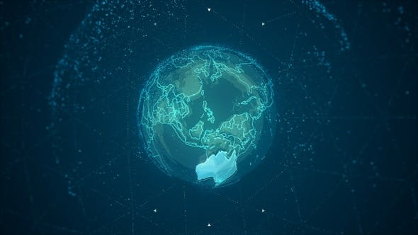 Thumbnail for Australia Continent on the Rotating Earth 4K