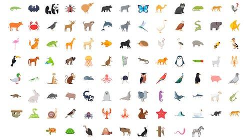 100 Animals & Birds Icons