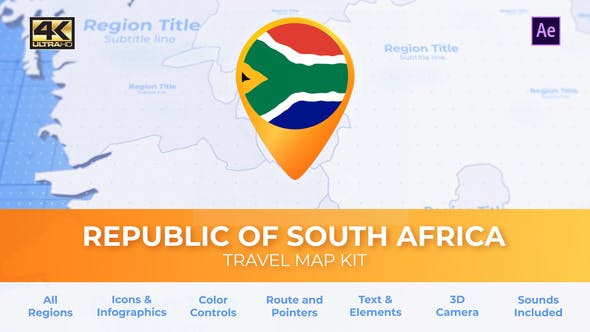 Thumbnail for South Africa Map - Republic of South Africa Travel Map