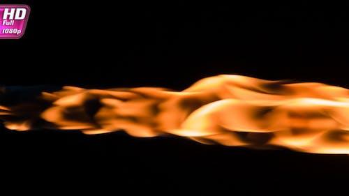Pulsing Fiery Stream