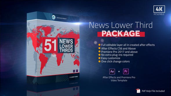 Thumbnail for News Lower Thirds Package