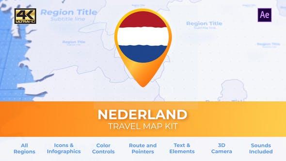 Netherlands Map Kit - Nederland Travel Map