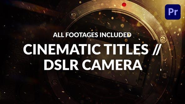 Thumbnail for Titres Cinématographique // Appareil photo reflex numérique