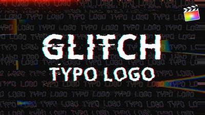 Glitch Typo Logo | For Final Cut & Apple Motion