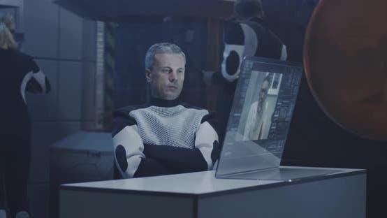 Thumbnail for Mars Base Crew Having Video Call