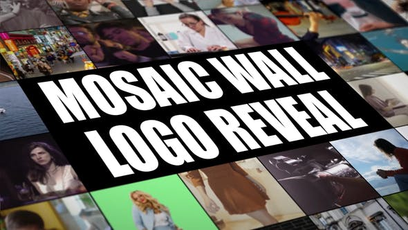 Mosaic Wall Logo Reveal