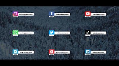 Social Media Lower Thirds