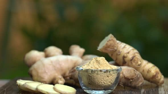 Ginger Root and Powder Rotation 2