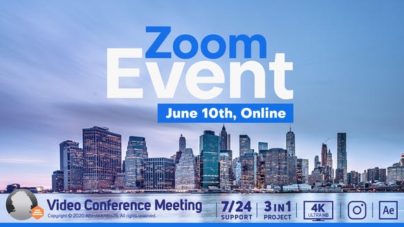 Thumbnail for Video Conference Online Zoom Meeting
