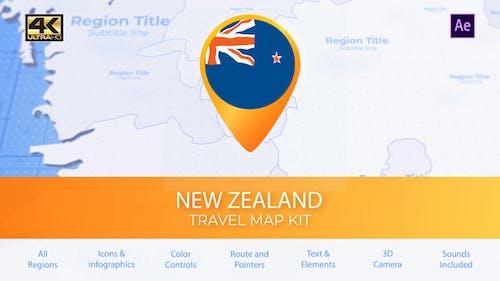 Carte de la Nouvelle-Zélande - Carte de voyage de Nouvelle-Zélande