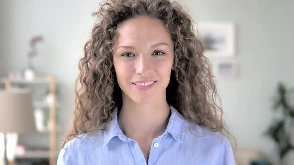 Thumbnail for Portrait of Smiling Curly Hair Woman