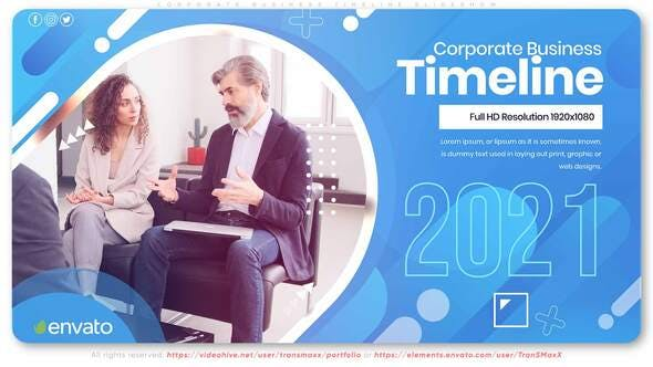 Thumbnail for Corporate Business Timeline Slideshow