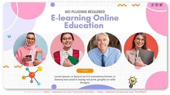 Thumbnail for E-learning Online Education Slideshow