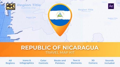 Nicaragua Karte - Nikaragua Reisekarte
