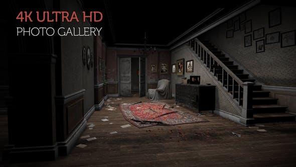 Galería de fotos en una casa abandonada