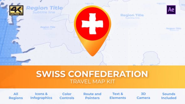 Thumbnail for Switzerland Map - Swiss Confederation Travel Map