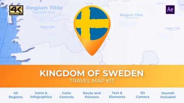 Thumbnail for Sweden Map - Kingdom of Sweden Travel Map
