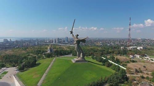 Monument of Motherland Calls in Volgograd, Russia