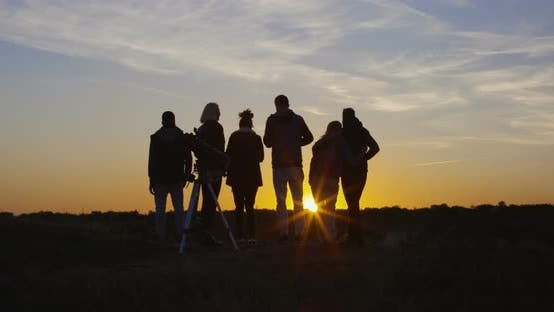 Cover Image for Friends Together in the Setting Sun Cheering