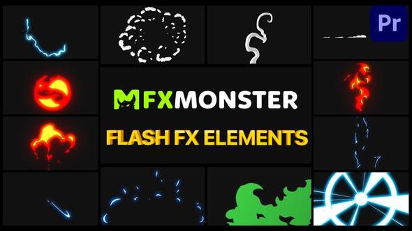 Thumbnail for Flash FX Elements Pack 02 | Premiere Pro MOGRT
