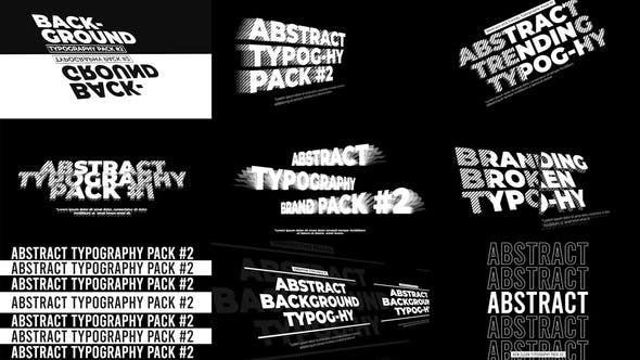 Thumbnail for Abstract Typography Pack V2