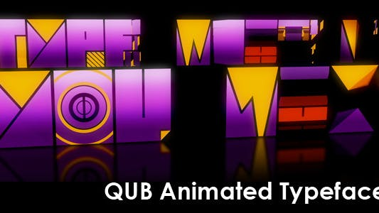 Thumbnail for Qub Typeface Animated