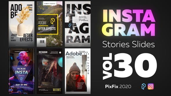 Thumbnail for Instagram Stories Slides Vol. 30
