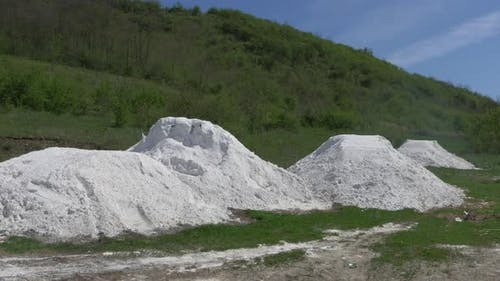 Piles of white dust