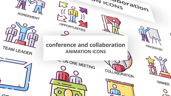 Conference & Collaboration - Animation Icons