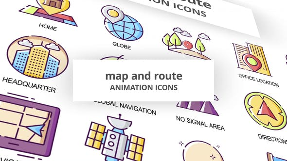 Map & Route - Animation Icons