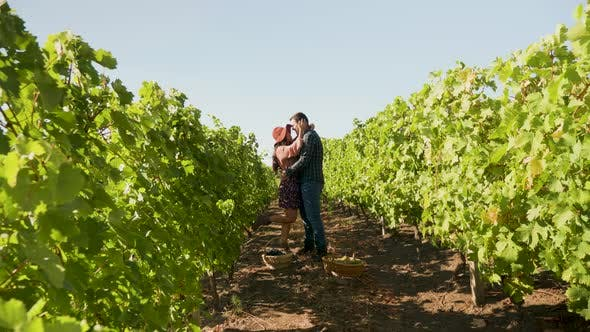 Thumbnail for Couple on a Romantic Date in a Vineyard