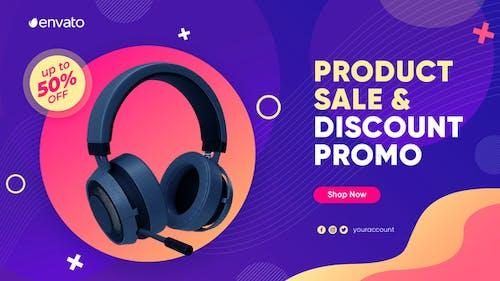 Promo für Produktverkauf und Rabatt