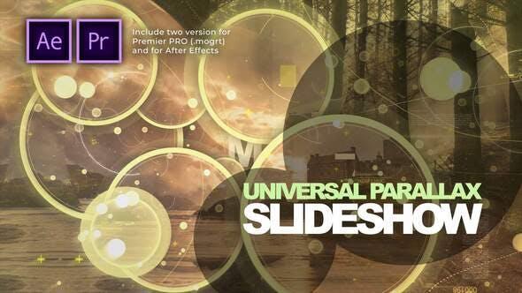 Presentación de diapositivas paralaje universal