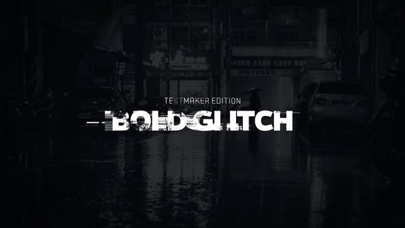 Titel-Animator - Bold Glitch//DaVinci Resolve