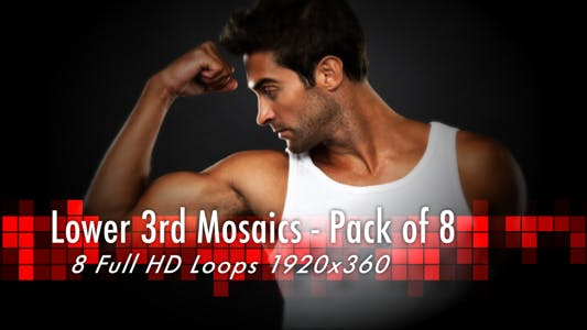 Thumbnail for Lower 3rd Mosaic - Pack of 8 Loops