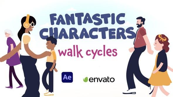 Thumbnail for Fantastic Characters - Walk Cycles