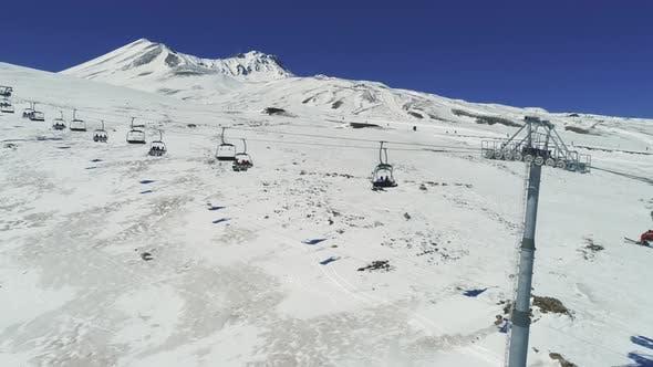 Thumbnail for Aerial Ski Lift And Ski Resort