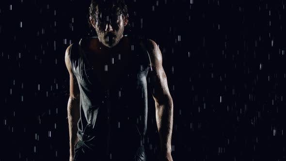 Thumbnail for Athletic Man In The Rain