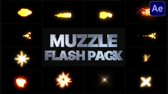 Thumbnail for Muzzle Flash Pack | After Effects