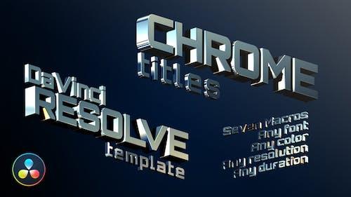 Chrome Titles   DaVinci Resolve