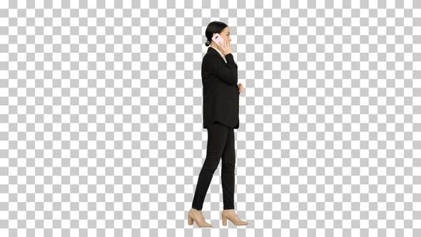 Thumbnail for Bossy Businesswoman talking on her phone, Alpha Channel