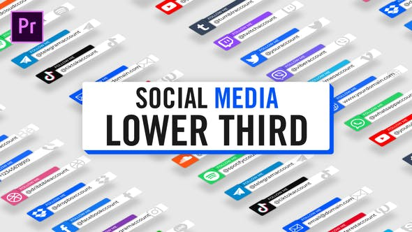 Thumbnail for Modern Social Media Lower Thirds