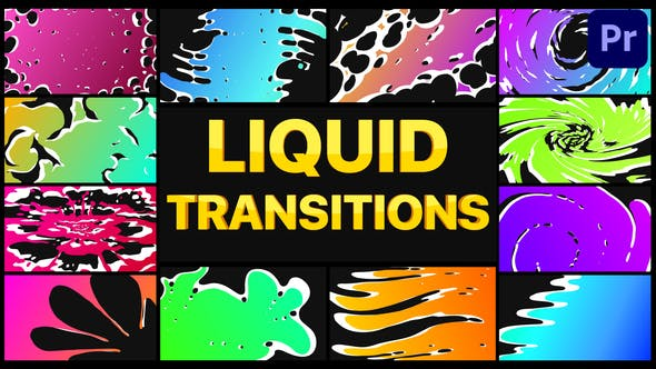 Thumbnail for Gradient Liquid Transitions | Premiere Pro MOGRT