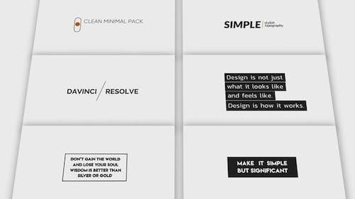 Clean Minimal Titles V.2
