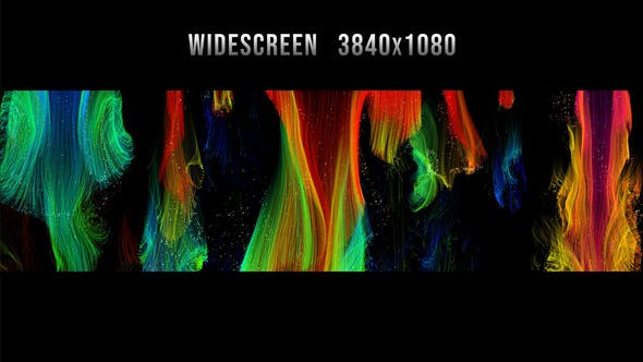 Colorful Strings Widescreen Background 2K