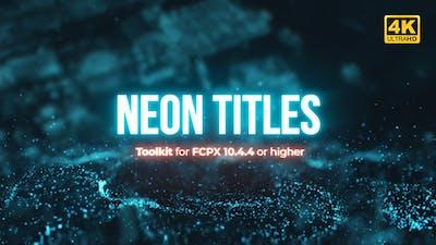 Neon Titles Toolkit