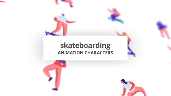 Skateboarding - Character Set